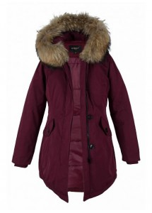 Dames winterjas parka bordoux