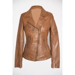 Dames Leren jas Jane 5 tan